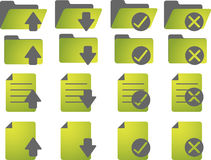 Document icons. Document folder icon set, with different statuses Royalty Free Stock Photo
