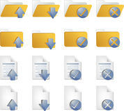 Document icons. Document folder icon set, with different operations Royalty Free Stock Photography