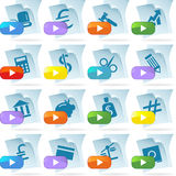Document Icons - Banking. Set of 16 banking document icons stock illustration