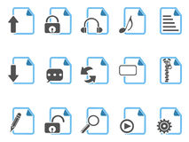 Document icons ,blue series Royalty Free Stock Photos