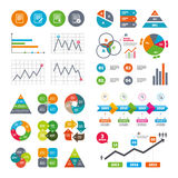 Document icons. Download file and checkbox. Business data pie charts graphs. File document icons. Download file symbol. Edit content with pencil sign. Select Stock Image