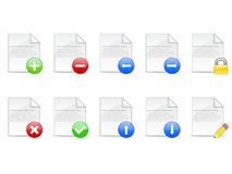 Document Icons EPS. A set of ten document icons available in vector EPS format stock illustration