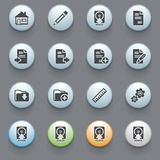 Document icons on gray background 2. Royalty Free Stock Photos