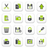 Document icons. Green gray series. Royalty Free Stock Photos