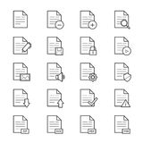 Document Icons Line Stock Photos
