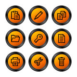 Document icons, orange series Stock Photo
