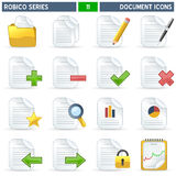 Document Icons - Robico Series. Collection of 16 colorful document and file icons, isolated on white background. Robico Series: check my portfolio for the royalty free illustration