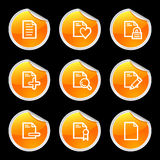 Document icons set 2 Royalty Free Stock Image