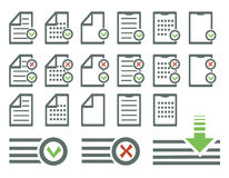 Document icons set Royalty Free Stock Images