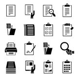 Document icons Stock Images