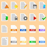 Document icons set Royalty Free Stock Photography