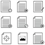 Document icons set. The document of icons set Stock Images