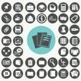 Document icons set. Illustration eps10 Royalty Free Stock Photo