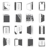Document icons. Set of 16 sketch book and document icons in white background Stock Images
