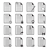 Document Icons Set Stock Photography
