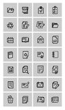 Document icons set. Vector document icons set on gray Royalty Free Stock Image