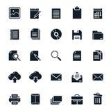 Document icons Stock Photo