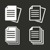 Document icons set. Stock Photography