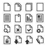 Document Icons Set Stock Photo