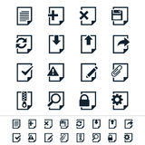 Document icons. Simple  icons. Clear and sharp. Easy to resize. No transparency effect. EPS10 file Stock Photography