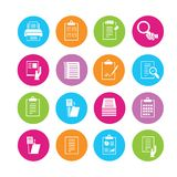 Document icons Stock Photo