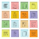 Document icons sticky note paper Stock Photography