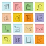 Document icons sticky note paper Royalty Free Stock Photography