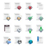 Document icons v.1. A set of 16 document icons Stock Photography