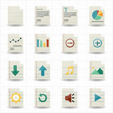 Document icons Royalty Free Stock Image