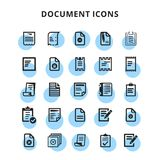 Document Icons. For web design and application interface, also useful for infographics. Vector illustration Royalty Free Stock Images