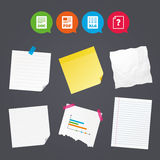 Document icons. XLS, PDF file signs. Stock Images