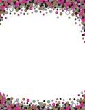Document imprimé de fond de cadre de célibataire de mariage de confettis Photo libre de droits