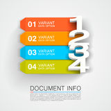 Document info banner Royalty Free Stock Photo