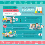 Document Infographics Set Stock Images