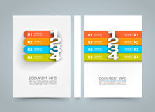 Document information menu banner book. A4 size paper, Template design element, Vector background. Document information menu banner book. A4 size paper, Template Royalty Free Illustration