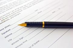 Document juridique Image stock