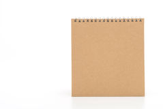 document kalender op wit Royalty-vrije Stock Afbeeldingen