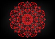 Document kantdoily Laser scherpe mandala Oosters silhouetornament abstract patroon in vector Rond rooster Vectormalplaatje voor d royalty-vrije illustratie