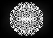 Document kantdoily Laser scherpe mandala Oosters silhouetornament abstract patroon in vector Rond rooster Vectormalplaatje voor d stock illustratie