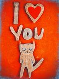 Document kat in liefde royalty-vrije stock afbeeldingen