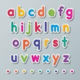 Document kleine letters Royalty-vrije Stock Foto's
