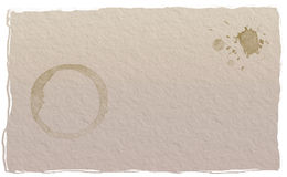 Document koffievlek Stock Afbeeldingen