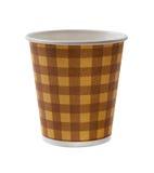 Document kopkoffie die op wit wordt geïsoleerd royalty-vrije stock afbeelding