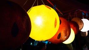 Document lamp met beuatiful kleur Stock Fotografie