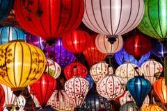 Document lantaarns op de straten van Hoi An royalty-vrije stock fotografie