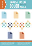 Document layout. Infographic elements. Timeline Stock Image