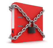 Document and lock (clipping path included) Royalty Free Stock Photography