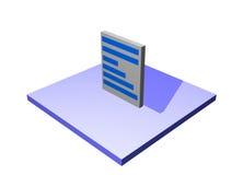 Document a Logistics Supply Chain Diagram Object. Document, a logistics supply chain symbol from a series set royalty free illustration