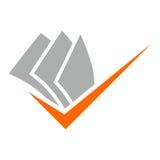 Document Logo, Icon design element, company name. Logo, Icon design element, company name Royalty Free Stock Photography