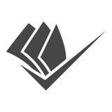Document Logo, Icon design element, company name Stock Photo